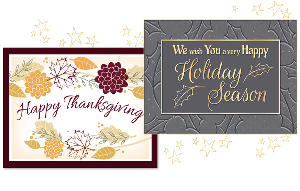 Holiday eCards for Thanksgiving and Season's Greetings.