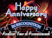A popular item in employee recognition programs is to send eCards to employees on their work anniversary.