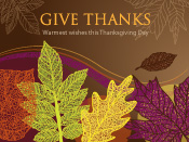 Thanksgiving eCards and Seasons Greetings