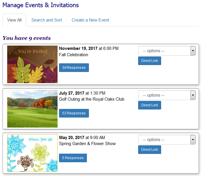 How to create an online invitation with easy Event RSVP.