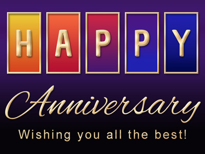 Anniversary eCard with Rainbow Color Blocks