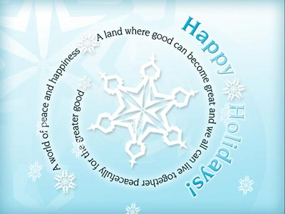 Animated Holiday eCard with Snowflake