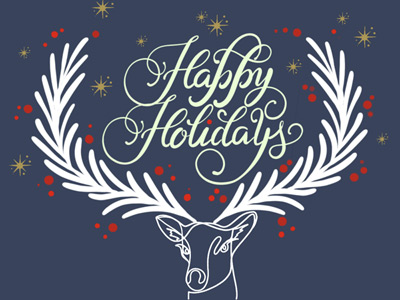 Holiday eCard with deer