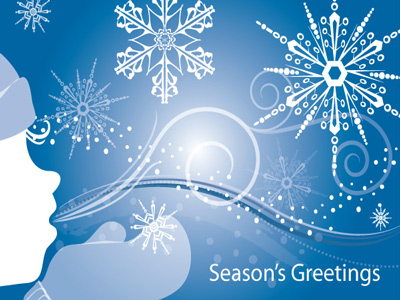 Animated and non-animated season's greetings eCards designed for business have no advertising and unlimited sending for one low price.