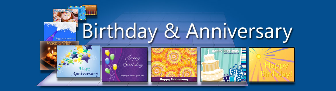 Send an unlimited number of advertising-free anniversary and birthday eCards all included in your membership.