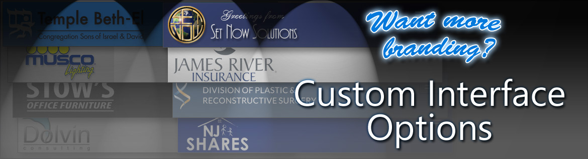 Your custom branded  design will show to your eCard, invitation and survey recipients.