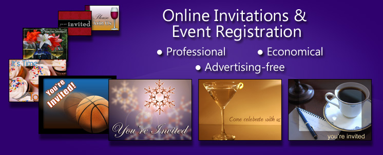 Advertising free online invitations and event registration made easy.