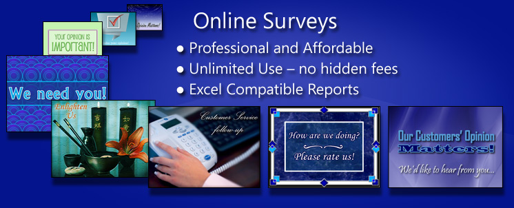 Easily create online surveys for business like customer satisfaction surveys and employee feedback on initiatives, training and more.
