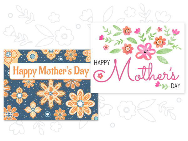 New Mother's Day eCard designs and coloring pages.