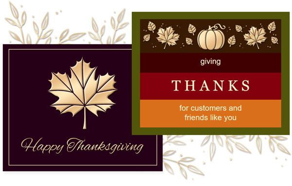 New Thanksgiving email templates to brighten your contact's inboxes