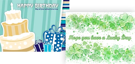 You can search for an eCard or invitation design by keyword, occasion or holidays.