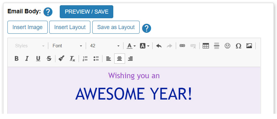 Compose your email message in the text editor.