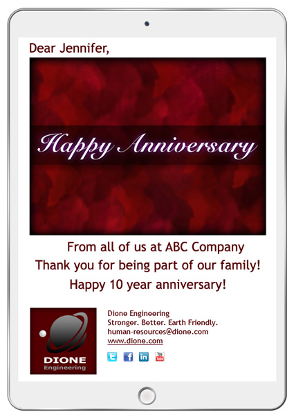 Anniversary eCard campaigns are great for employee recognition and customer appreciation.