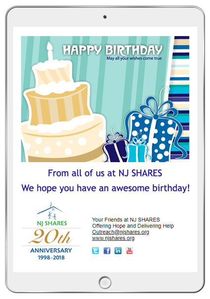 Birthday eCards are perfect for customer appreciation and employee recognition initiatives.