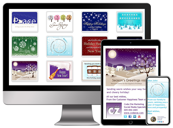 Holiday eCards are perfect for staying in touch with customers, colleagues and friends.