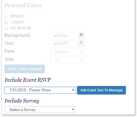 You can make any eCard into an online survey or an online invitation.