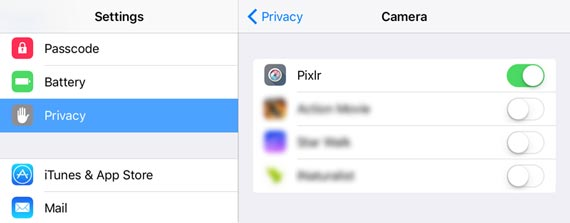Here's how to set Pixlr privacy settings to create eCards from your device's saved photos.