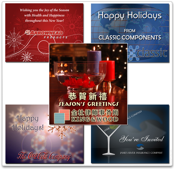 You can create your own holiday eCards from photos or artwork and then upload them from your computer or smart phone.