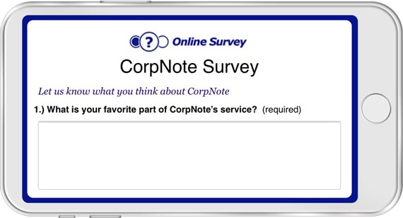 Create a survey and then send an eCard that links to the survey response form so people can easily respond online.