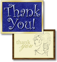 Thank you eCards are a quick, low cost way to say thank you.