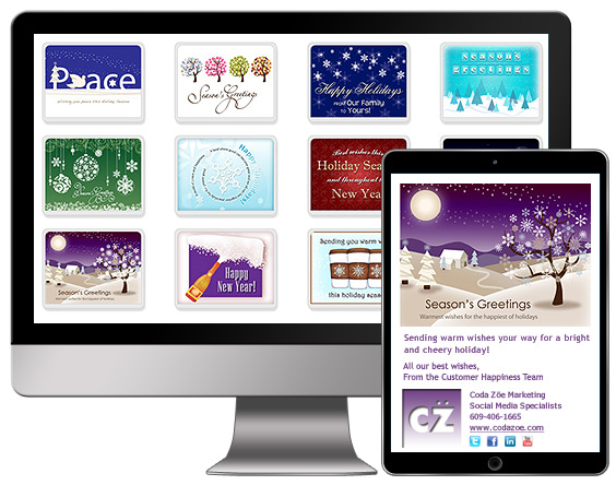 Seasons Greetings Christmas New Years Our Holiday ECards Work With Desktop Computers Tablets And Mobile Phones
