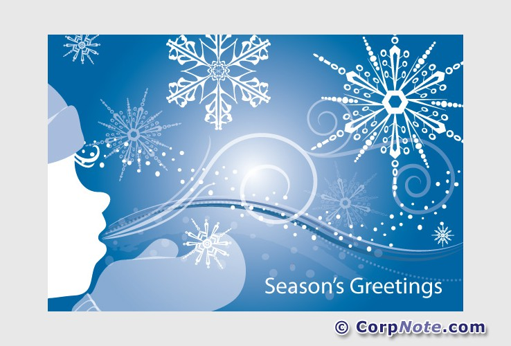 Seasons Greetings Cards Email Inbox or Web Browser Delivery Holiday ...
