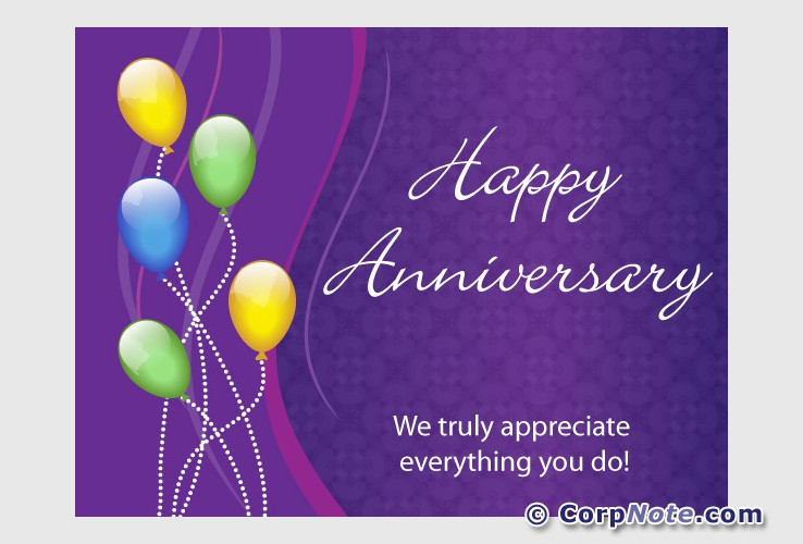 Employee recognition ecards great job anniversary and