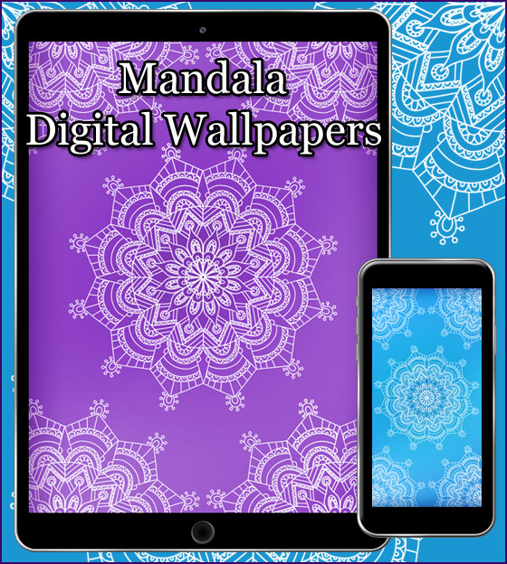 Download our free wallpaper mandala in blue snd purple.