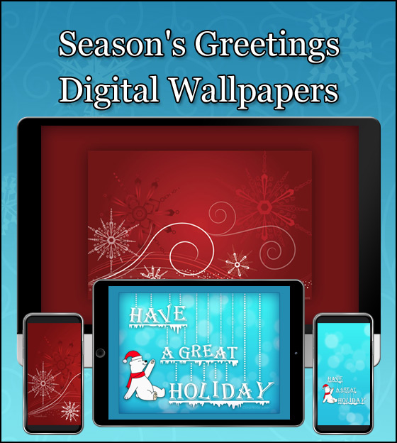 Celebrate the season with our new snowy season's greetings wallpapers.