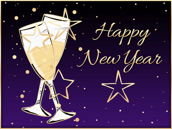 New Year's eCard gives a toast to 2021!