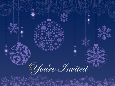 Online invitations make holiday party planning easy.