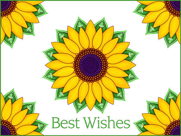 Our new cheerful sunflower eCard can be used as a best wishes eCard any time of year.