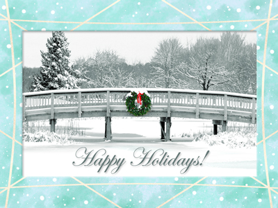 Photos on greeting cards are always popular such as this winter scene on our new Season's Greetings eCard.