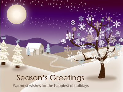 CorpNote's Holiday eCards are compatible with mobile phones too.
