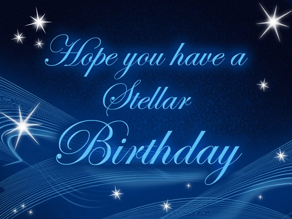 Stellar Birthday eCard for employee recognition or customer appreciation