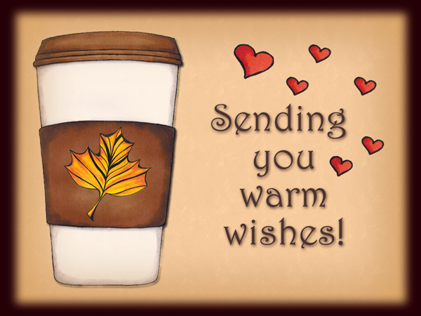 Warm Wishes holiday greeting card